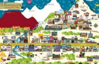 Crested Butte Cartoon Map
