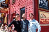 The Guild with owners Ali and Mark Drucker of First Ascent Coffee Roasters and Chris Sullivan of Mountain Oven Organic Bakery